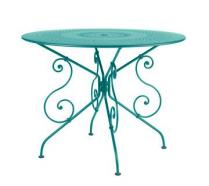 Ø 96 cm round table Turquoise