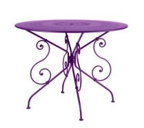 Ø 96 cm round table Aubergine