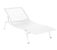 Sunlounger Alizé Cotton White