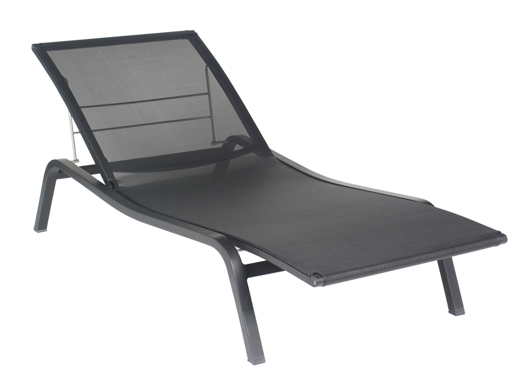 Fermob aliz colourful modern adjustable sunlounger for Chaise de soleil longue