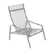 Furniture Alizé : garden low armchair Color Steel grey Design by Pascal Mourgue