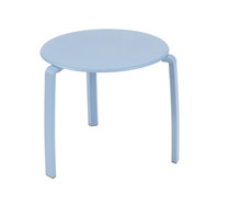 Table basse Ø 48 cm Bleu fjord