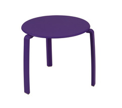 Low table Ø 48 cm Alizé Aubergine