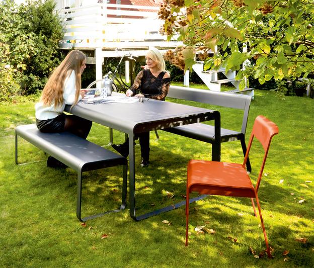 Banc bellevie fermob de jardin design contemporain en for Banc de jardin fermob
