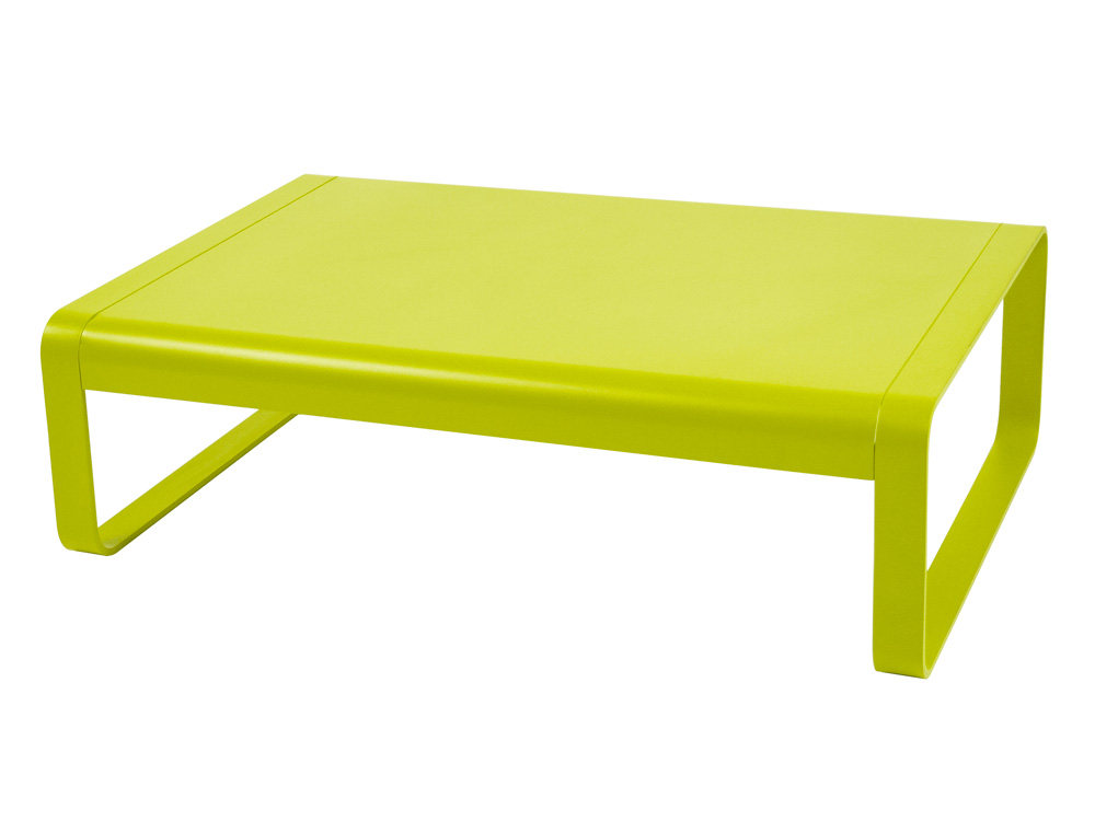 fermob bellevie colourful rectangular metal low table for outdoors designed by pagnon pelha tre. Black Bedroom Furniture Sets. Home Design Ideas