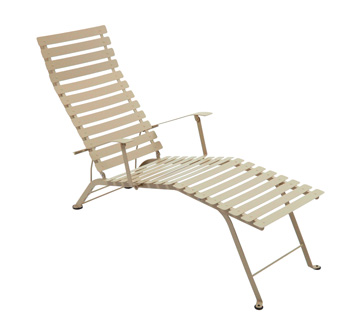 fermob bistro colourful designer folding metal chaise longue