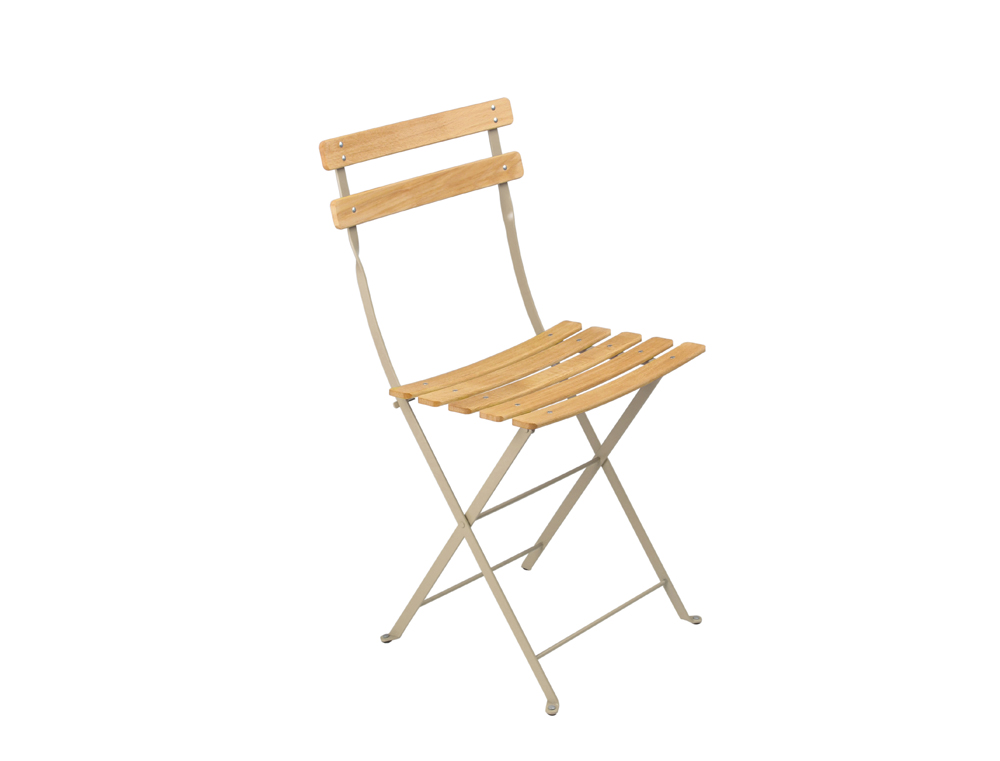 Fermob Bistro Folding Garden Chair Natural And Colour