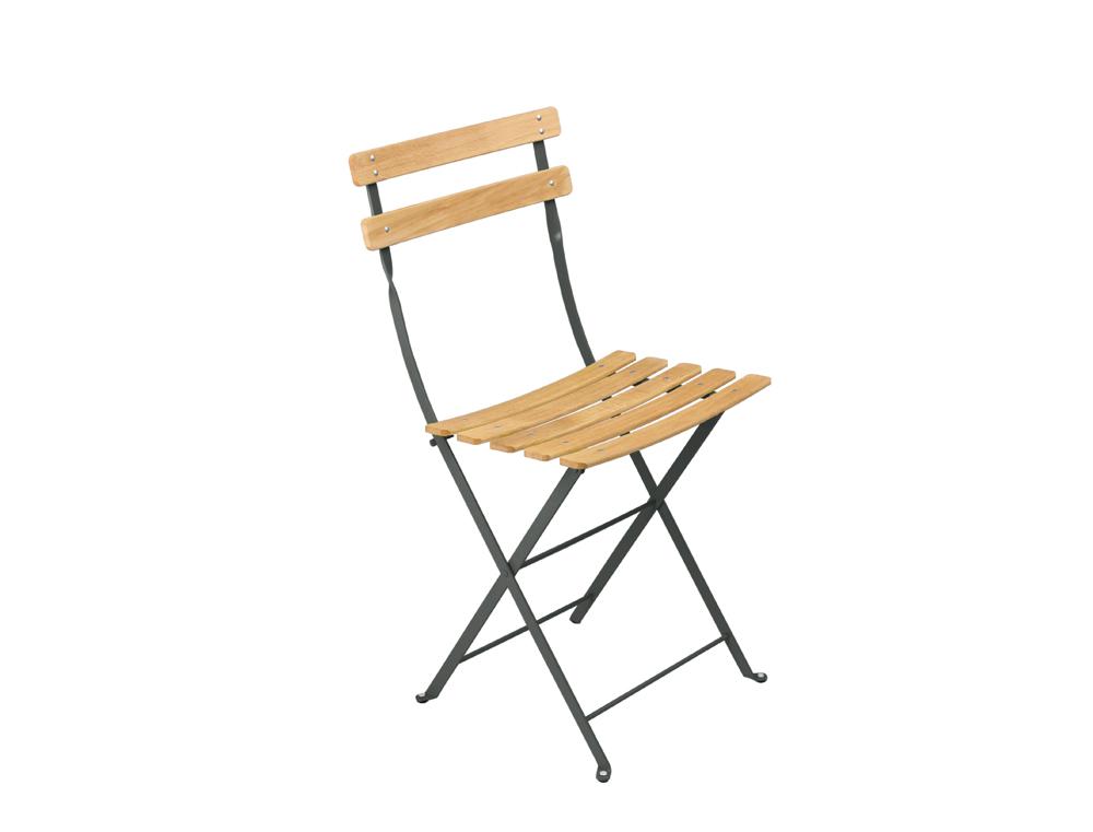 chaise de jardin bistro fermob pliante naturel en couleurs. Black Bedroom Furniture Sets. Home Design Ideas