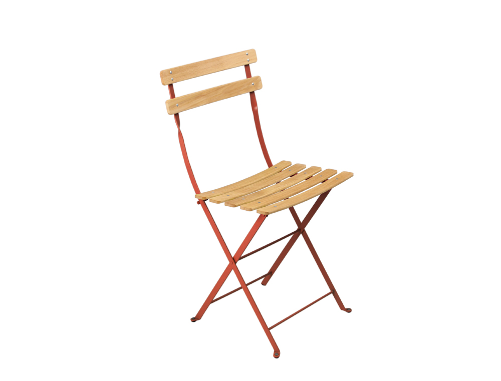chaise de jardin bistro fermob pliante naturel en couleurs acier et bois. Black Bedroom Furniture Sets. Home Design Ideas