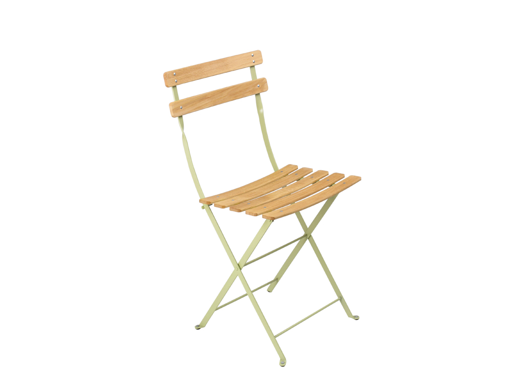Fermob bistro folding garden chair natural and colour - Chaise luxembourg fermob ...