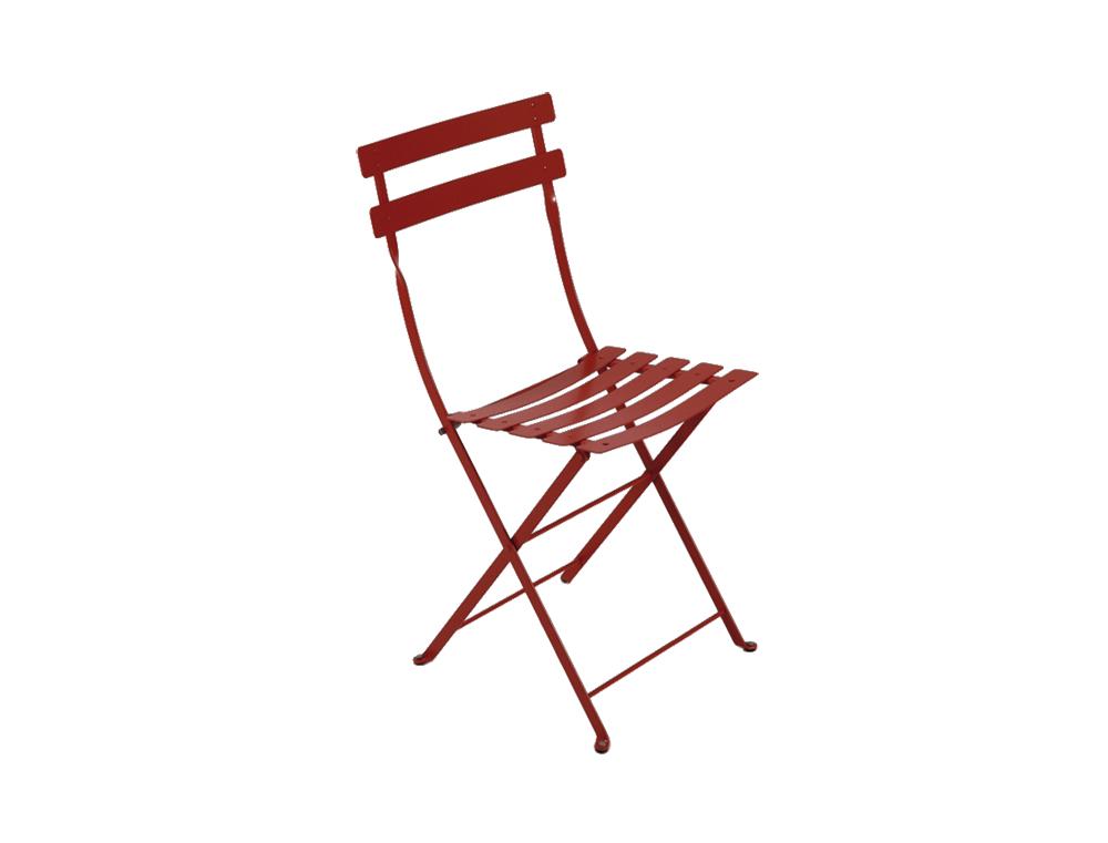 chaise bistro fermob pliante fran aise en m tal et en couleurs. Black Bedroom Furniture Sets. Home Design Ideas