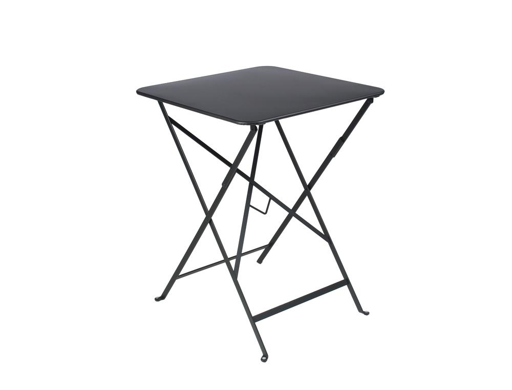 Table bistro fermob pliante carr e en acier et en couleurs - Table bistro fermob ...