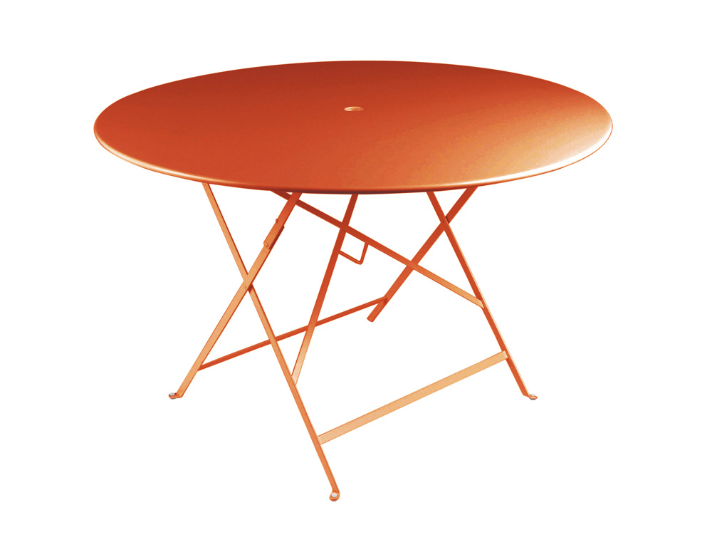 fermob bistro designer iron folding round table metal and
