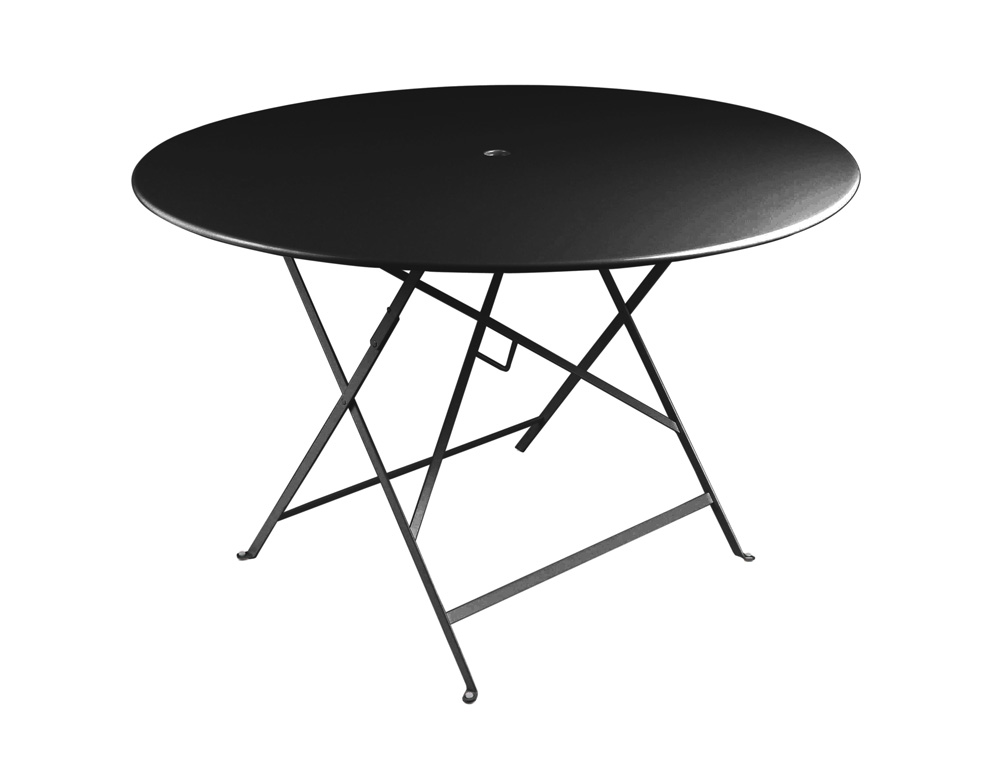 fermob bistro designer iron folding round table metal and. Black Bedroom Furniture Sets. Home Design Ideas