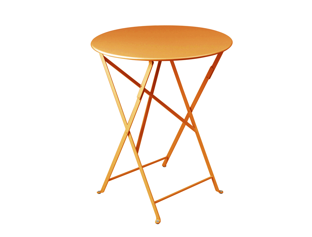 Fermob bistro colourful metal folding round table for two - Table bistro fermob ...