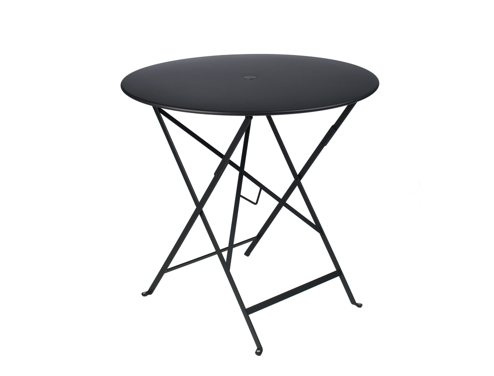 fermob bistro colourful designer metal folding round table. Black Bedroom Furniture Sets. Home Design Ideas