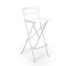 High stool Bistro Cotton White