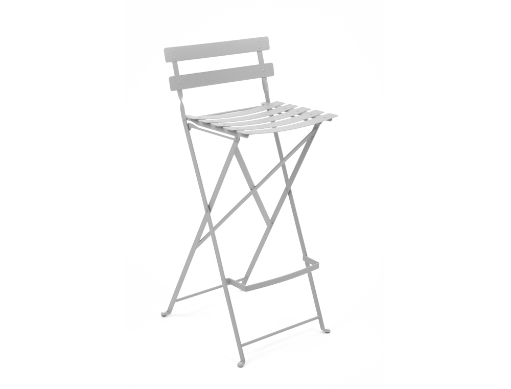 fermob bistro high stool colourful steel design for the patio. Black Bedroom Furniture Sets. Home Design Ideas