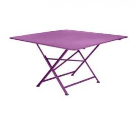 Table 130 x 130 cm Cargo Aubergine