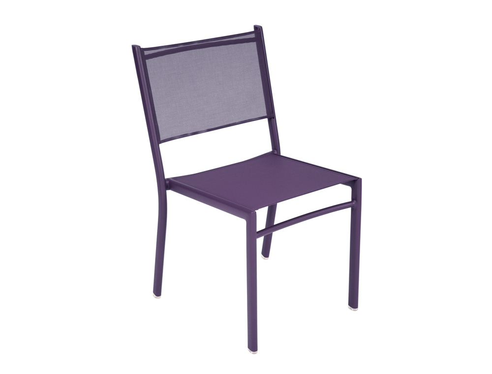 Fermob costa modern chair for outdoors fabric and metal for Chaise bistro fermob