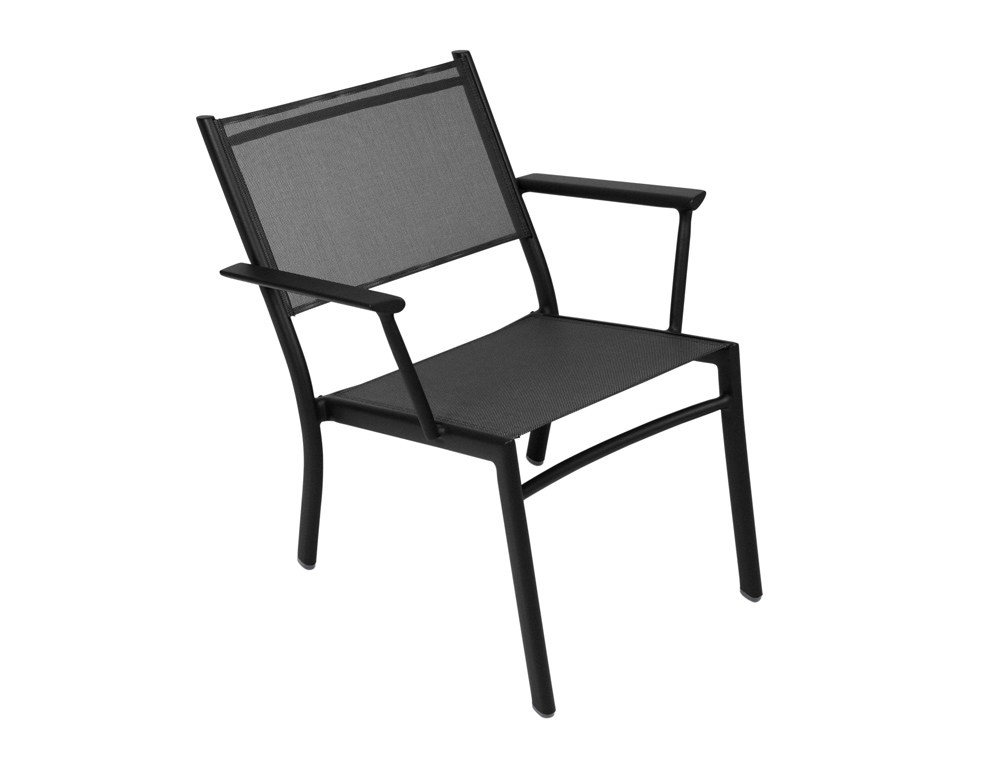 Fermob Costa Colourful Metal Garden Low Armchair And