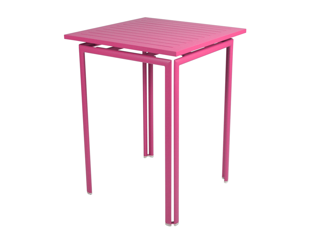 Fermob costa colourful contemporary steel high pedestal table - Table basse 80 x 80 ...