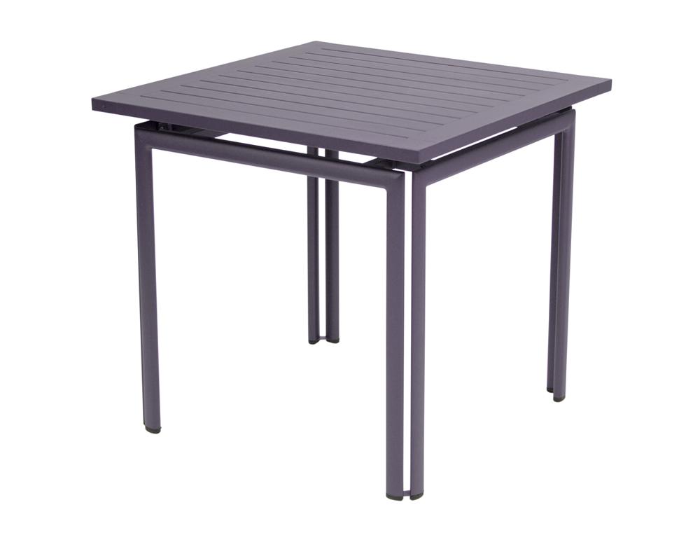 Table costa fermob contemporaine en couleurs et en m tal for Table exterieur largeur 80 cm