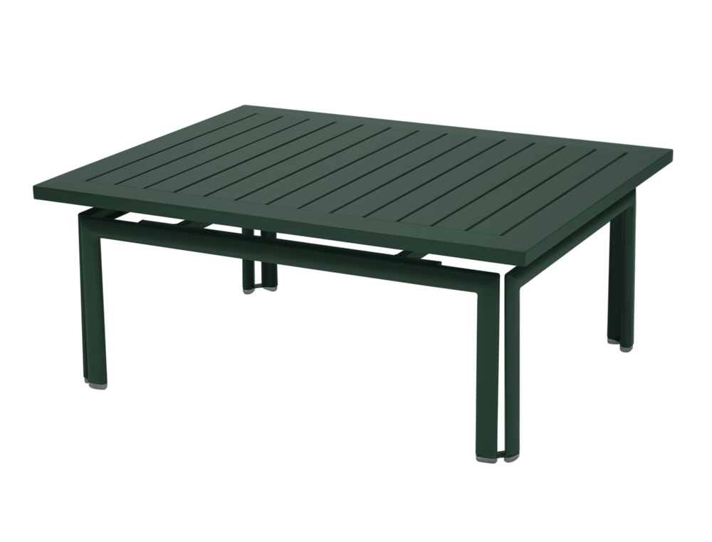 Fermob costa colourful modern rectangular iron low table for Table basse design 100 x 100