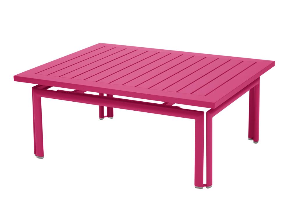 table basse costa fermob moderne rectangulaire en fer et en couleurs. Black Bedroom Furniture Sets. Home Design Ideas