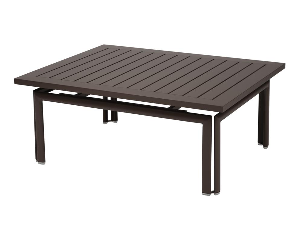 Table basse costa fermob moderne rectangulaire en fer et - Table basse 80 cm ...