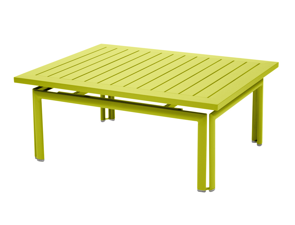 Fermob costa colourful modern rectangular iron low table - Table ronde 80 cm ...
