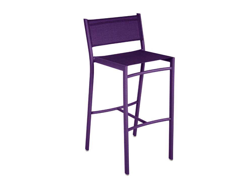 Fermob costa colourful designer high stool for the garden - Tabouret bar aubergine ...