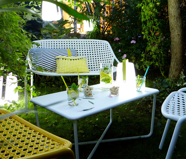 Table Basse Croisette Fermob Design Pascal Mourgue En M Tal Et En Couleurs
