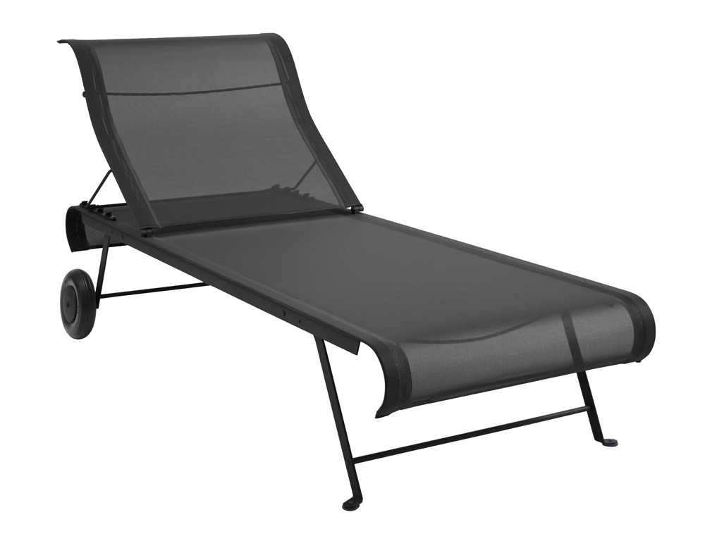 Fermob dune colourful modern canvas sunlounger designed - Chaise dune fermob ...