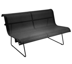 Bench 2 persons Ellipse Liquorice