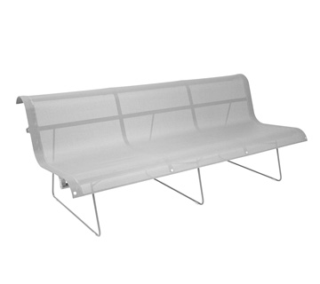 Bench 3 persons Ellipse Steel Grey
