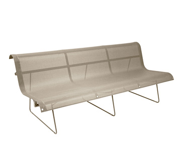 Bench 3 persons Ellipse Nutmeg