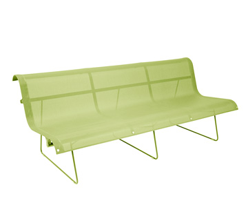 Bench 3 persons Ellipse Aniseed Green