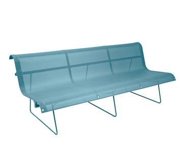 Bench 3 persons Ellipse Turquoise