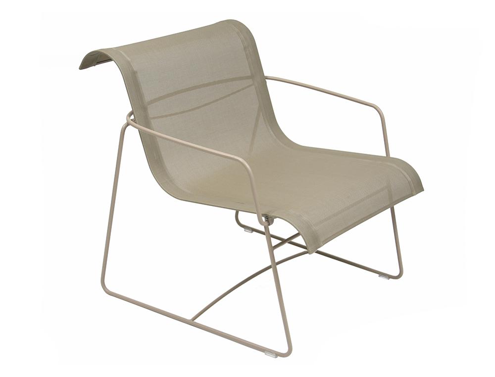 fauteuil ellipse fermob si ge bas design en toile. Black Bedroom Furniture Sets. Home Design Ideas