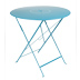 Furniture Floreal : garden Table Ø 77 cm Color Turquoise