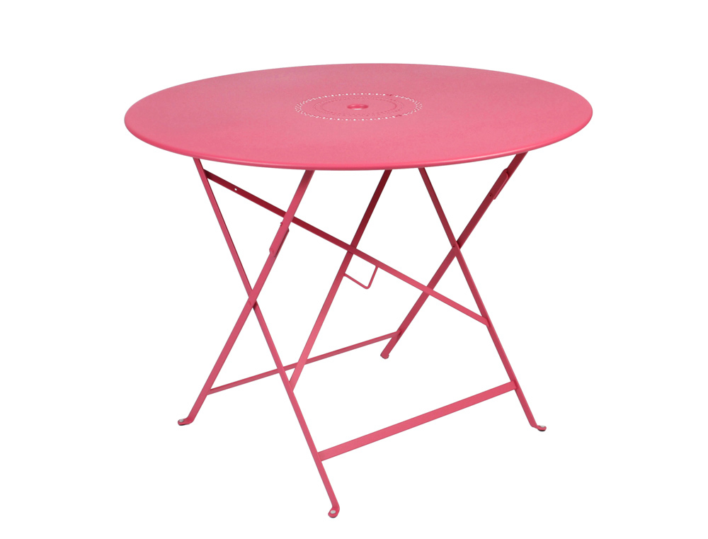 Grande table floreal fermob de jardin ronde 4 5 personnes for Table en fer exterieur