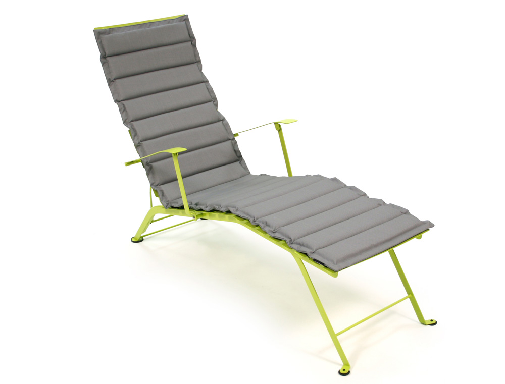 Outdoor otf cushion for fermob bistro chaise longue - Chaise longue chilienne ...