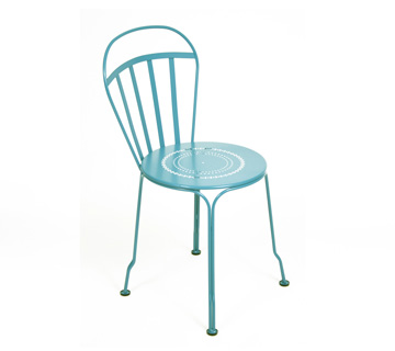 Fermob louvre colourful modern outdoor stackable metal chair - Chaise pliante fermob ...