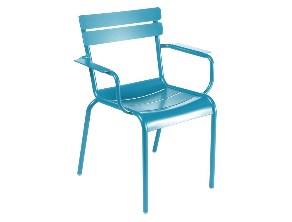 Bridge luxembourg fermob d 39 ext rieur fauteuil - Fauteuil turquoise contemporain ...