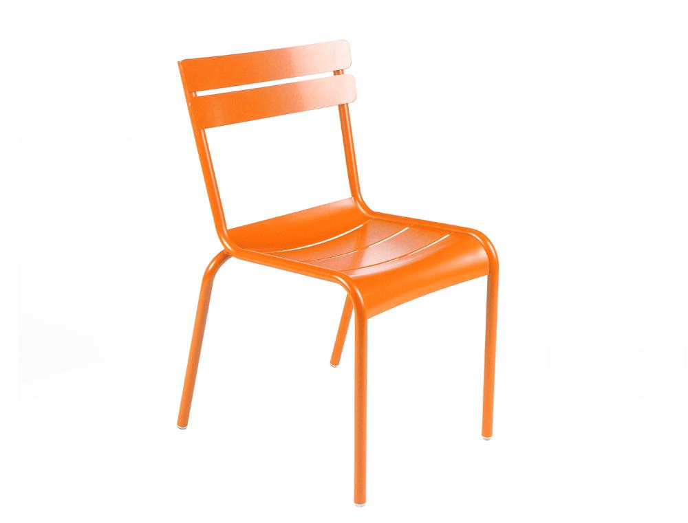 Gartenstuhl luxembourg fermob design aus aluminium farbig for Design stuhl hugo