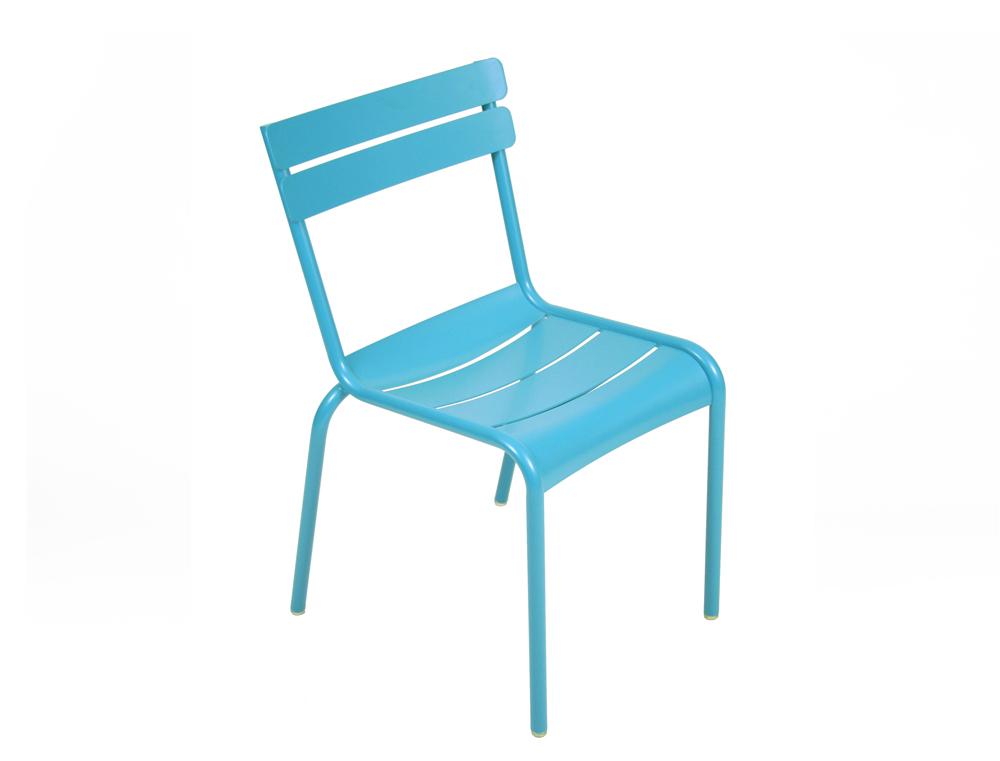 chaise luxembourg de jardin design empilable en aluminium et en couleurs fermob. Black Bedroom Furniture Sets. Home Design Ideas