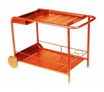 Side table / Bar with wheels Paprika