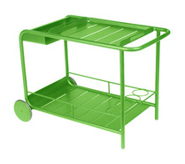 Side table / Bar with wheels Grass Green