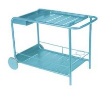 Side table / Bar with wheels Turquoise